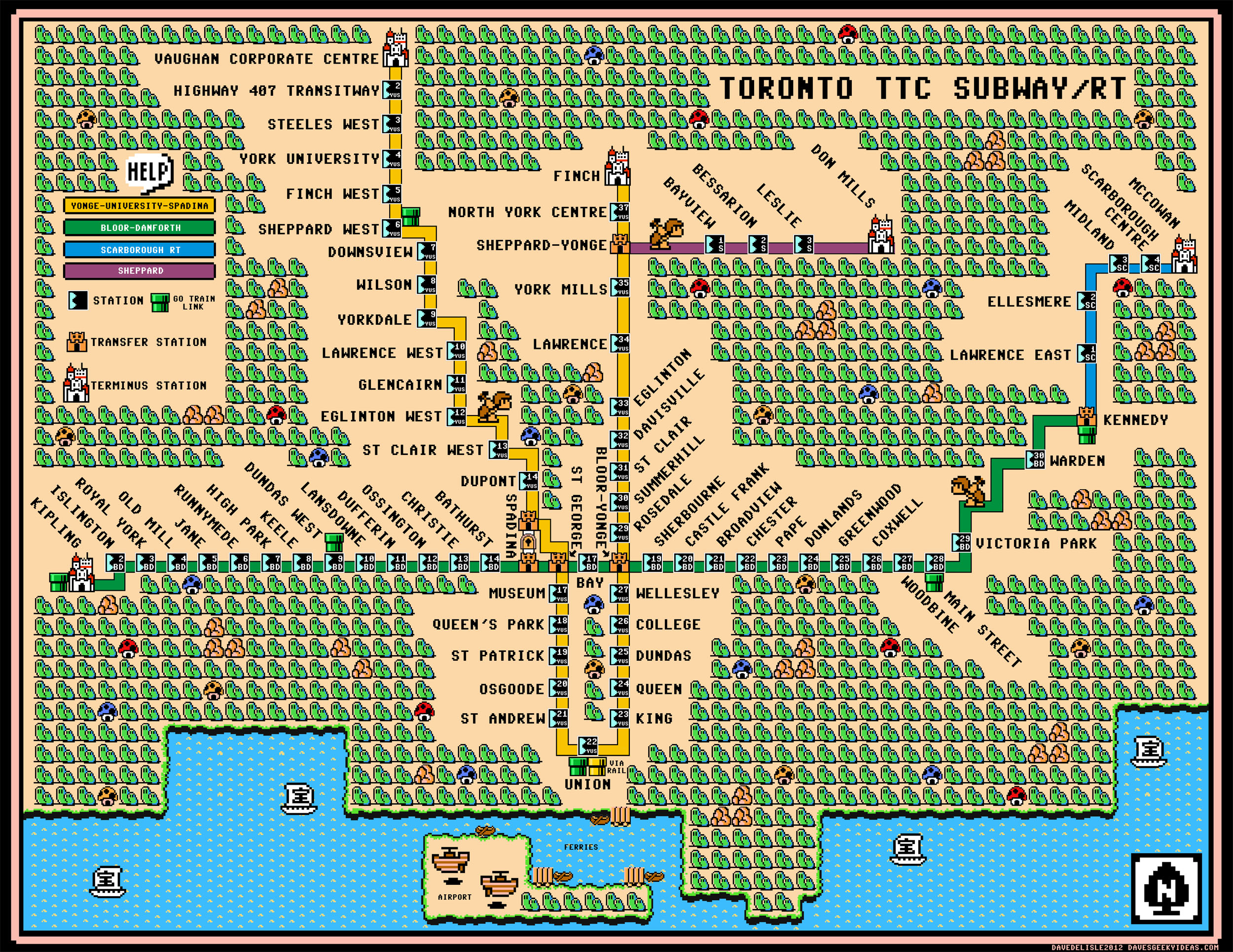 Ttc Subway Map Vs Actual.Transit Maps Urbnblog