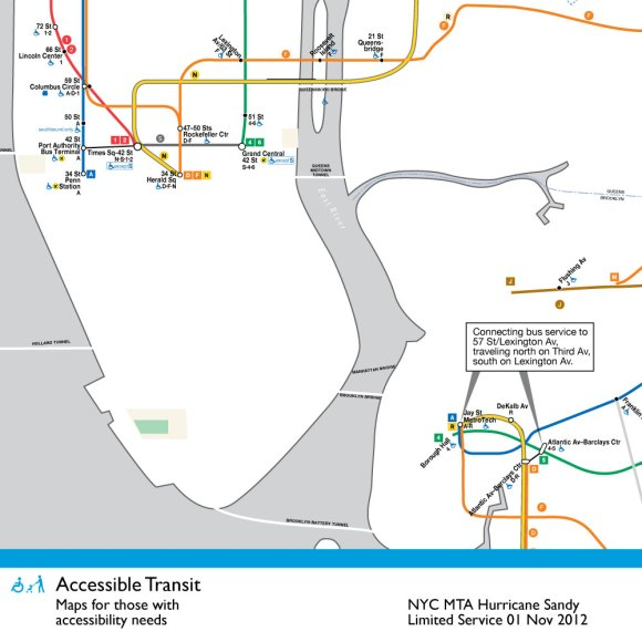 Nyc Subway Map Sandy.New York Subway Map Just Urbanism